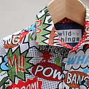 Retro Superhero Party Boys Shirt
