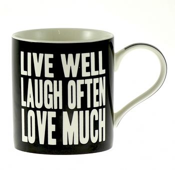 'Words Of Wisdom' China Mug In Gift Box