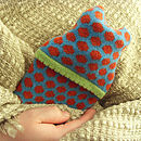 Popper Mini Hot Water Bottle_Turquoise & Tan_style