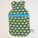 Popper Mini Hot Water Bottle_Petrel Blue & Green