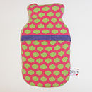 Popper Mini Hot Water Bottle_Pink & Green