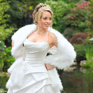 Marabou Feather Bridal Stole - pashminas & wraps
