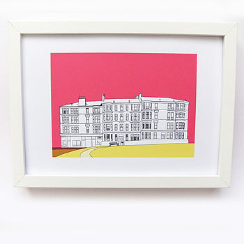 Print Of Glasgow Tenements