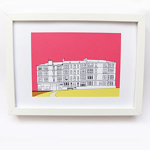 Print Of Glasgow Tenements - architecture & buildings