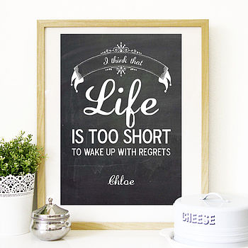 Personalised Vintage Style LIfe Quote Print