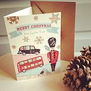 20 Personalised London Town Christmas Cards