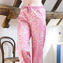 Rosy Watergarden PJ Bottoms