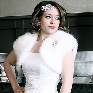 Marabou Feather Bolero - wedding fashion