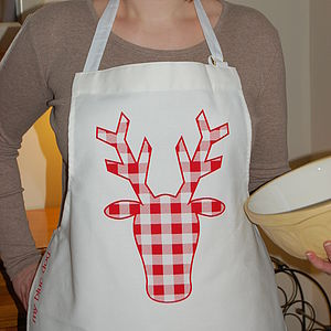 Gingham Stag Apron - kitchen accessories
