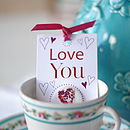 'Love You' Stitched Heart Badge