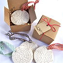 Porcelain Snowflake Bauble In Gift Box