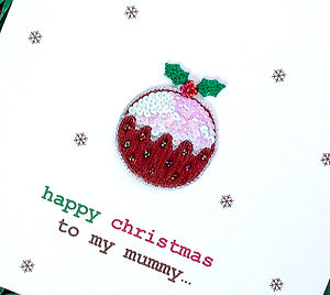 Personalised Christmas Pudding Card - christmas sale