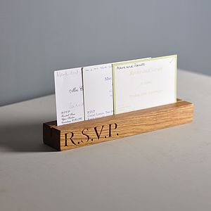 Oak Invitation RSVP Organiser - office & study