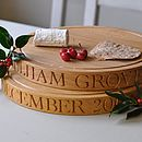 Personalised Round Oak Chopping Board