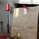 Personalised Christmas Gift Bag