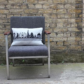 Knitted Lambswool London Skyline Cushion