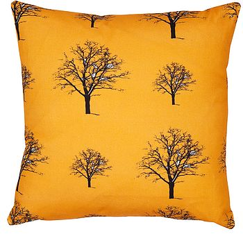 Snow Tree Pumpkin Organic Cotton Cushion