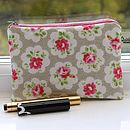 Cosmetic Bag In Provence Rose Print