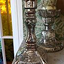 Silvered Glass Candlestick
