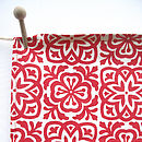 Moroccan Tile Print Organic Cotton Tea Towel