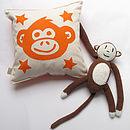 Cheeky Monkey Personalised Cushion