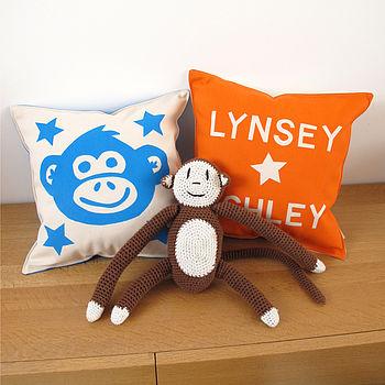 Personalised Cheeky Monkey Cushion