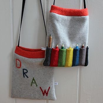 Knitted Lambswool 'Draw' Pencil Bag