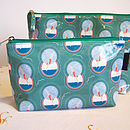 A Set Of Two Diving Lady Washbags