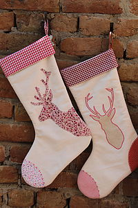 Personalised Reindeer Christmas Stocking