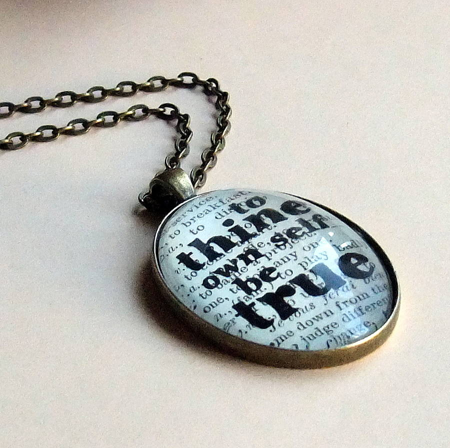 How To Make A Book Quote Pendant : Shakespeare book page quote necklace by bookishly