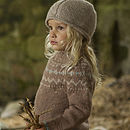 Caramel Fair Isle Yoke Jumper