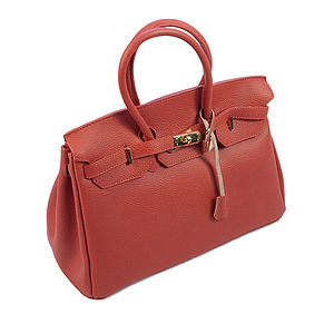 Italian Leather Padlock Bag