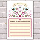 Recipe For Happy Marriage Guest Cards Pack