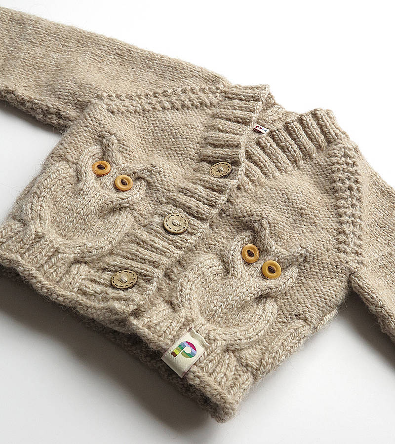 Owl Cable Knit Sweater Pattern - English Sweater Vest