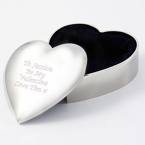 Personalised Heart Trinket Box - jewellery storage & trinket boxes