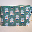 Green Large Diving lady wash bag