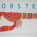 Framed Lobster Artwork