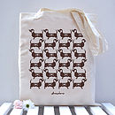 Sausage Dog Pattern Tote Bag