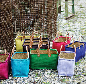 Natural Shopping Basket By Nordal - storage & organisers