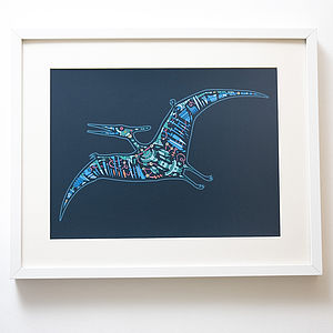 Mechanical Pterodactyl Print - canvas prints & art for children