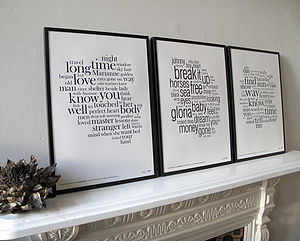 The Poets Collection Of Letterpress Prints - shop by price