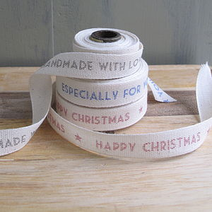 Festive Message Ribbon - sewing & knitting