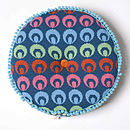 Buckle Round Cushion_Petrel Blue_Buckle side