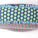 Buckle Round Cushion_Petrel Blue_Border