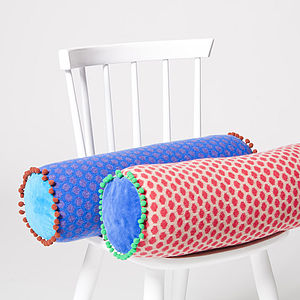 Popper Bolster Cushion - bedroom