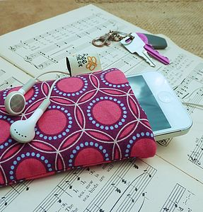 Handmade Magenta Circles Phone Case - leisure