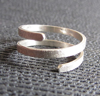Silver Twist Wrap Ring
