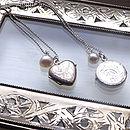 Vintage Silver Locket Necklace