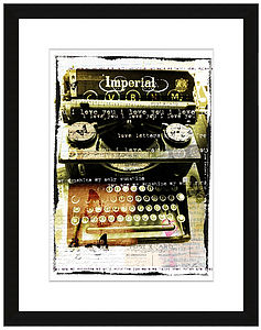 Personalised Vintage Typewriter Print