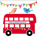 Personalised Red Bus Print